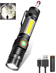 LED Flashlight Rechargeable Flashlights Battery Included 1000 High Lumen Tacti $17.98