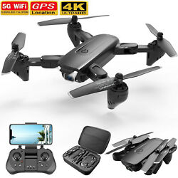 2021 Drone RC Drones Pro 4K HD Camera GPS WIFI FPV Quadcopter Foldable Bag Gifts $58.00