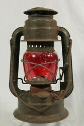 Vintage Chalwyn Tropic Hurricane Lamp Storm Lantern Early Military 1952 Red RARE GBP 29.95