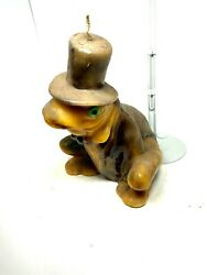 Antique Frog with Top Hat Candle Figure Unused $59.99