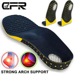 Pair Orthotic Shoe Insoles Inserts Flat Feet High Arch Support Plantar Fasciitis $10.99