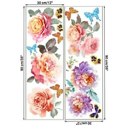 Flowers Wall Sticker Living Room Mural Replacement Sticker Wall Butterfly $11.99