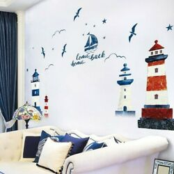 Ocean Sticker Decals Wall Scenery Sailboat Living Home Removable Child C $25.25