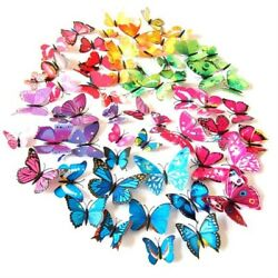 Wall Butterfly Home 3d Decor Stickers Art Sticker Room Removable 12pcs Plastic $3.27