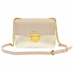 Chopard Siena quot;Miniquot; Pink And Gold Leather Handbag 95000 0662 $633.00