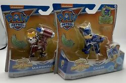 Paw Patrol Mighty Pups Super Paws Marshall And Chase Figures Nickelodeon 2018 $19.95
