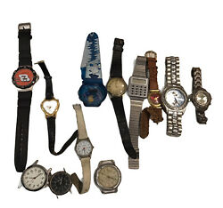 Lot 12 Watches Parts Or Repair Simpsons Swiss Made Milan Advance Voit Earnhardt $20.25