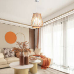 Bamboo Retro Ceiling Hanging Lampshade Hotel Pendant Lamp Chandelier Cover $37.36