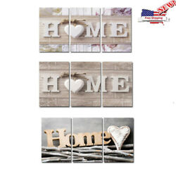 3Pcs Concise Fashion Wall Paintings Home Letter Printed Photo Art Wedding Decors $13.29