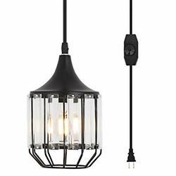 YLONG ZS Hanging Lamps Swag Lights Plug in Pendant Light 16 FT Cord and Chain Ha $56.08