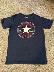 New Converse All Star Boys T Shirt Blue Size Youth Large Girls $6.99