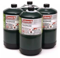 🏕COLEMAN propane fuel Cylinders 16 Oz 4 pack 🔥✅ $39.99