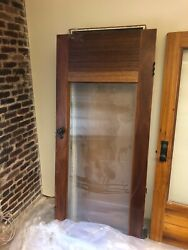 4x Beautiful Antique Office Doors with Glass Panel $2500.00