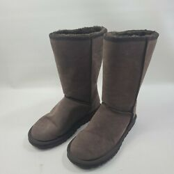 Ugg Australia Women#x27;s Shoes Classic Mid Fabric Closed Toe Brown Size 6.0 $55.00