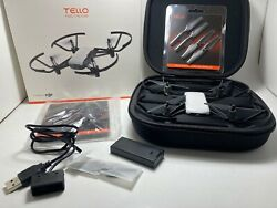 DJI Tello Drone by Ryze *BUNDLE* EXTRA Battery Case Propellers USB Charger MINT $149.99