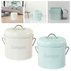 3L Compost Bin Countertop Indoor Farmhouse with Lid Compost Pail Rust Proof $34.98