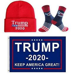 Trump 2020 Beanie Hat for Men WomenNovelty Socks and Trump 2020 Red5 Size $13.99