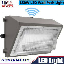 LED Wall Pack with Dusk to dawn Photocell 3PCS 150W Outdoor Commercial Lighting