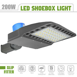 LED Shoebox Area Commercial Light with Photocell 200W Parking Lot Street Lights