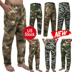 New Men Military Cargo Pant Camo Army Combat Hiking Casual Long Trouser S 4XL US $15.99
