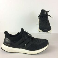 Adidas Men#x27;s Size 7 Black Ultra Boost Lace Up Sneakers Primeknit Running $68.53