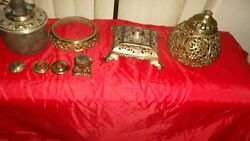 Bradley Hubbard Banquet Lamp Parts 8 Pieces from Vintage Lamp Parts Only $64.99