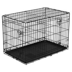 Vibrant Life Double Door Folding Dog Crate with Divider X Large 42quot; $46.99