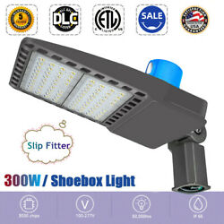 US Outdoor Commercial Lights 300W LED Parking Lot Light Street Pole Lighting NEW