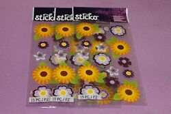 Sticko LOT of 3 Sealed Packs of Layered Vellum Daisy Flowers Stickers $4.19