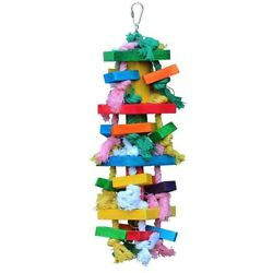 Bird Chewing Toy Large Medium Parrot Cage Bite Toys African Grey Macaws CockatR3 $17.99