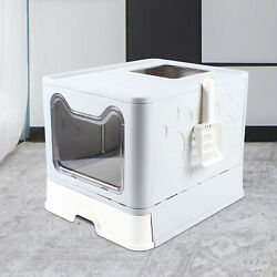 Foldable Cat Litter Box Cat Litter Tray Cats Toilet Pet Litter Tray Front Entry $39.00