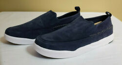 Hush Puppies Big Boys Lazy Genius Slip On Sneaker Shoes Blue Suede Size 5.5 Wide $22.99