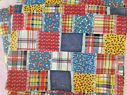 VINTAGE Material Fabric Lots of Various Colors Designs amp; Patterns $5.20