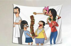 Bob#x27;s Burger Tapestry Wall Hanging Cover Home Decor Dorm 80x60 in $15.00
