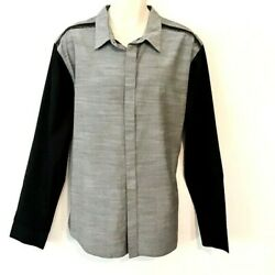 3.1 Phillip Lim for Target Mens Shirt Size XL Gray Button Down Frayed Edging New $12.71