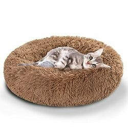Calming Dog Bed and Cat Bed Removable and Washable Pet XX Small 16quot; Khaki $16.54