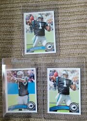 Investor Lot x3 Cam Newton Topps RC with Image Variation $15.00