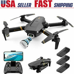 FPV Wifi Drone Quadcopter With HD Camera Aircraft Foldable Selfie Toy Adjustable $55.90