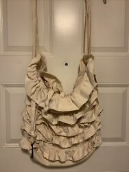 Shabby Vintage Style Tote Bag Handcrafted Fabric Floral Key $24.99