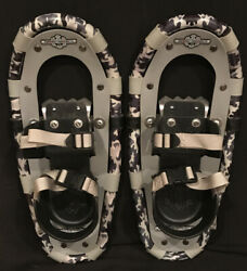Kids LL Bean Snow Shoes Winter Walker Youth 16 inches Camo Gray Black. $65.00