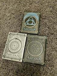 Arcana Tarot Playing Cards Dead on Paper Black amp; White set AND Expansion set $130.00