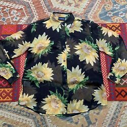 Vintage Top 90s Sunflower Sheer Small $26.50