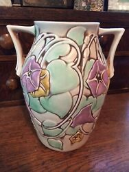 """Roseville Morning Glory Arts And Crafts 8.5"""" Vase $230.00"""