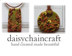 Autumn FOREST FLOOR Pendant Necklaces beautifully hand crafted in polymer clay GBP 8.99
