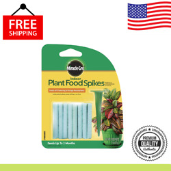Miracle Gro Indoor Fertilizer Plant Food With 24 Spikes Fast Grow Plants 1 Pack $4.19