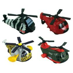 Mini Diecast Pullback Helicopter Toys Set of Four 4 $11.95