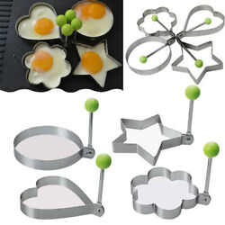 Stainless Steel Shaper Mold Kitchen Circle Heart Flower Star Shape Mould $5.69