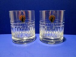 Waterford Crystal Rocks Double Old Fashioned Glasses Bolton Pair New With Tag $64.95