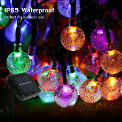 48ft Outdoor String Lights aterproof Commercial Patio Globe Fairy Light Bulbs