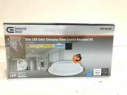 Commercial Electric Slim 6quot;Color Select Canless Recessed LED Kit 3PK Marks